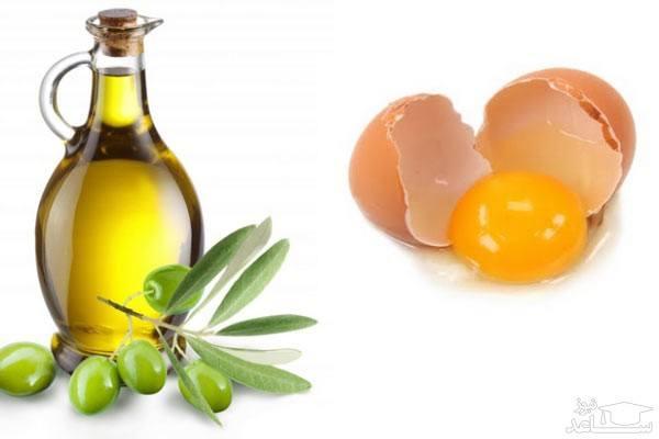 ماسک زرده تخم مرغ و روغن زیتون، ساخت ماسک زرده تخم مرغ و زوغن زیتون